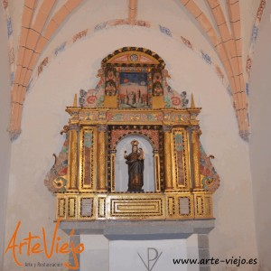 Retablo Corona restaurado por arte-viejo.es
